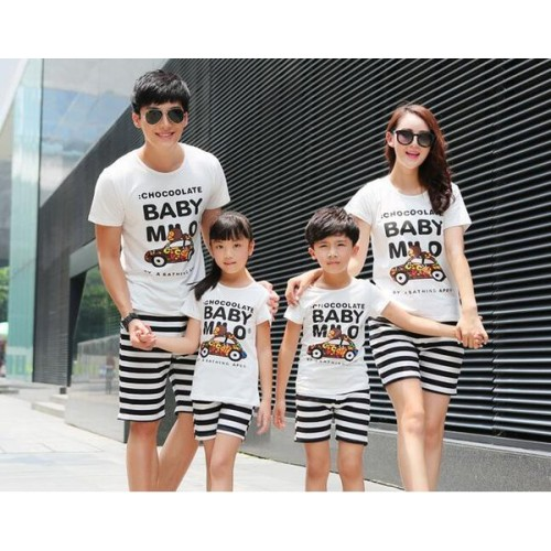 b6ef3dd7d طقم ملابس لطيفة بطباعة لكل العائلة